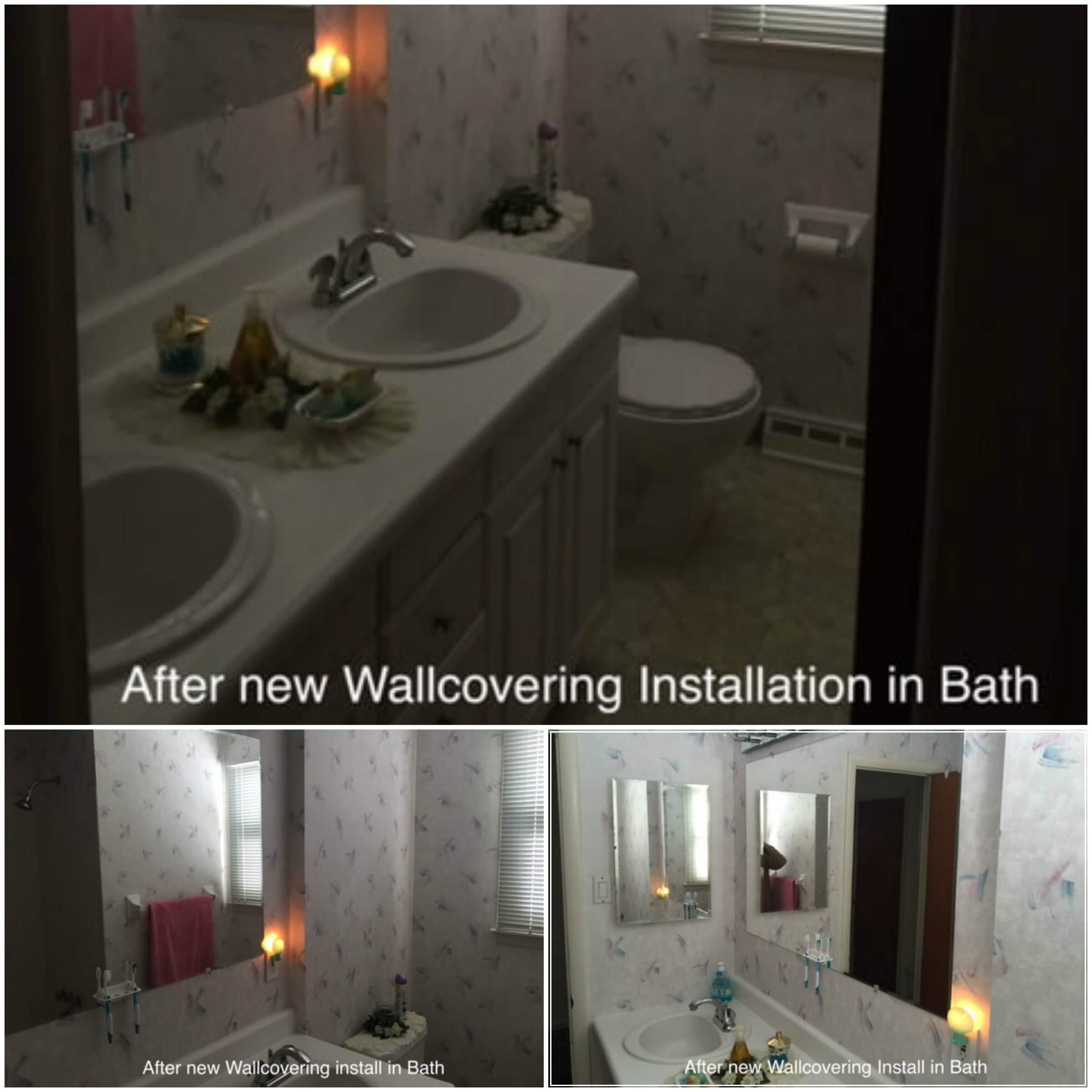 after wall covering installation